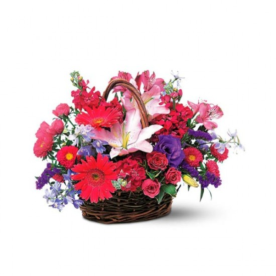 Pink and Lavender Basket