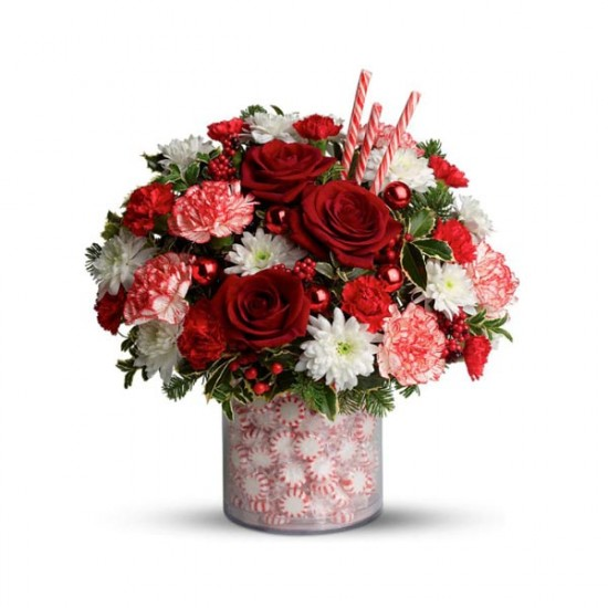Teleflora's Holiday Surprise Bouquet - Deluxe