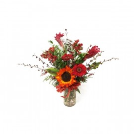 The red scarlet arrangement of Flowers from WFN